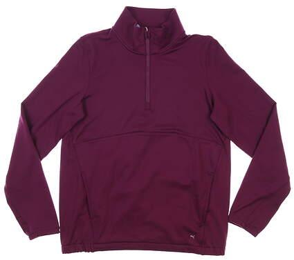 New Womens Puma Cloudspun 1/4 Zip Pullover Small S Dark Purple MSRP $70 597712