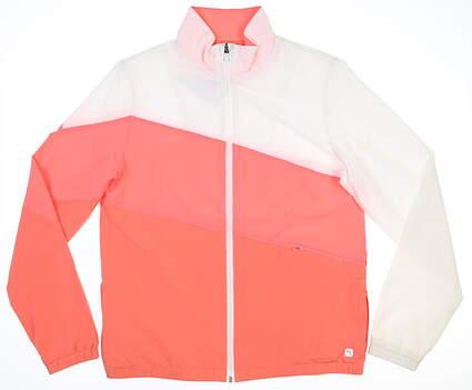 New Womens Puma Track Jacket Small S Georgia Peach/Ignite Pink MSRP $90 599270