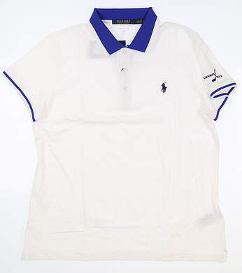 New W/ Logo Womens Ralph Lauren Polo Large L White MSRP $95