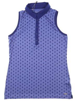 New Womens Under Armour Sleeveless Polo Medium M Purple MSRP $70