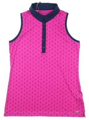 New Womens Under Armour Sleeveless Polo Medium M Pink MSRP $70