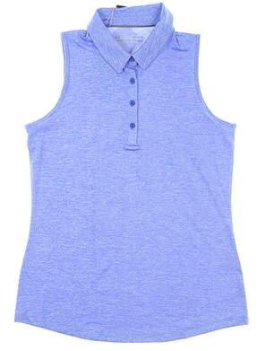 New Womens Under Armour Sleeveless Polo Medium M Blue MSRP $70