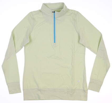 New Womens Straight Down Skye 1/4 Zip Pullover Small S Sage MSRP $104 W60303