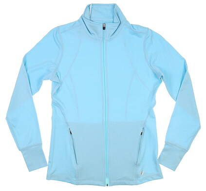New Womens Straight Down Golf Jacket Small S Blue MSRP $96 W60312
