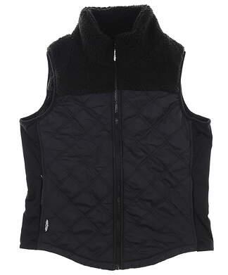 New Womens Straight Down Golf Vest Medium M Black MSRP $120 W10143