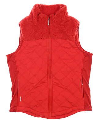New Womens Straight Down Golf Vest Medium M Red MSRP $120 W10143