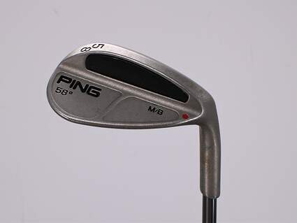 Ping MB Wedge Lob LW 58° Ping TFC 100I Graphite Regular Right Handed Red dot 34.25in