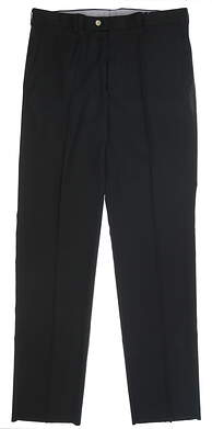 New Mens Peter Millar Golf Pants 36 xUn-Hemmed Black MSRP $115 MS16EB78