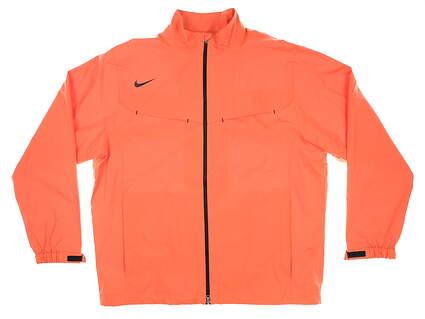 New Mens Nike Golf Rain Jacket Large L Orange MSRP $150 484151