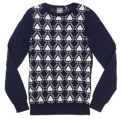 New Womens Puma Dassler Sweater Small S Peacoat MSRP $70 576150 01