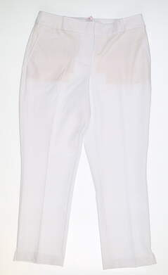 New Womens Fairway & Greene Maggie Capri Pants 6 White MSRP $115 J32183