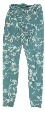 New Womens Puma Print Leggings Small S Blue Spruce MSRP $70 599264 04
