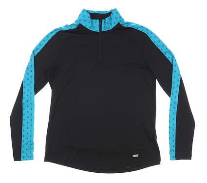 New Womens Under Armour 1/4 Zip Pullover Medium M Black MSRP $65 UW1273