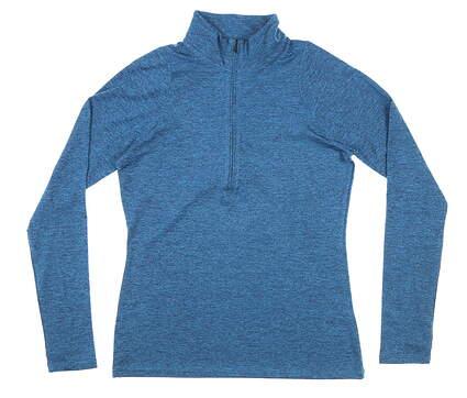 New Womens Under Armour 1/4 Zip Pullover Medium M Blue MSRP $65 UW1269