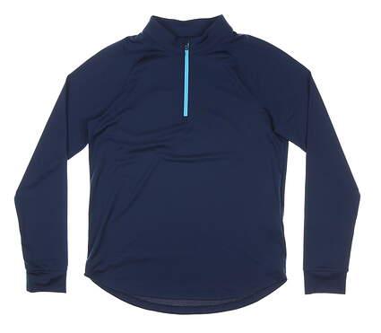 New Womens Under Armour 1/4 Zip Pullover Medium M Navy Blue MSRP $65 UW1465