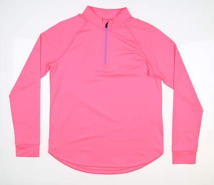 New Womens Under Armour 1/4 Zip Pullover Medium M Pink MSRP $65 UW1465