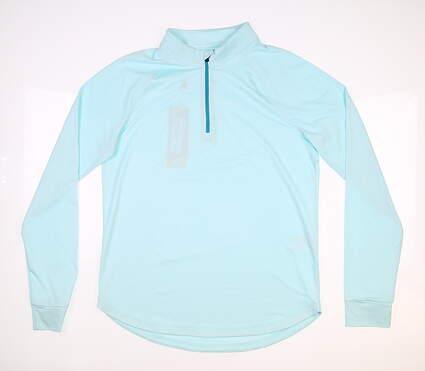 New Womens Under Armour 1/4 Zip Pullover Medium M Blue MSRP $65 UW1465