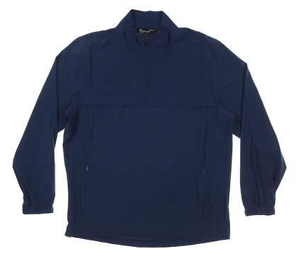 New Mens Under Armour Wind Jacket Large L Navy Blue MSRP $85