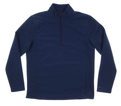 New Mens Under Armour Wind Jacket Large L Navy Blue MSRP $90
