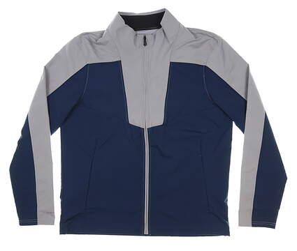 New Mens Under Armour Wind Jacket Large L Gray MSRP $90 UM1962