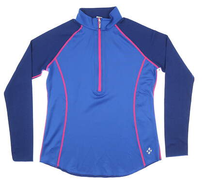 New Womens Jo Fit 1/4 Zip Pullover Medium M Blue MSRP $70 UT115