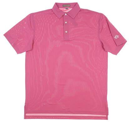 New W/ Logo Mens Peter Millar Polo Medium M Pink MSRP $79