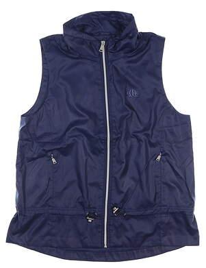 New Womens Ralph Lauren Vest Large L Navy Blue MSRP $120