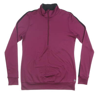New Womens Lija 1/2 Zip Golf Pullover Medium M Purple MSRP $135 19A-1619T2