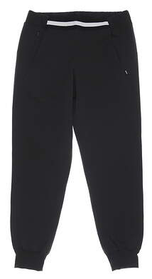 New Womens Puma Del Mar Jogger Pants Small S Black MSRP $80 599263