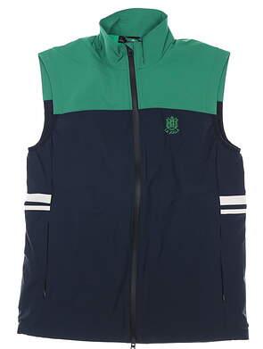 New W/ Logo Mens J. Lindeberg Archer Golf Vest Medium M Navy/Green MSRP $237 GMOW00428