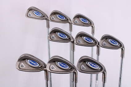 Ping i5 Iron Set 3-PW GW Ping Z-Z65 with Cushin Insert Steel Stiff Right Handed Black Dot 38.0in