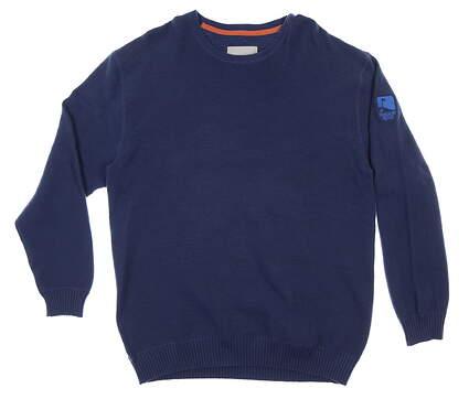 New W/ Logo Mens Level Wear Sweater XX-Large XXL Navy Blue MSRP $115 HR61L