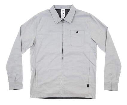 New Mens Travis Mathew Santiago Jacket Medium M Alloy MSRP $90 1MS264