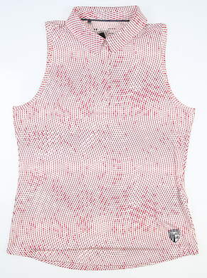 New W/ Logo Womens Under Armour Sleeveless Polo Large L Multi MSRP $75