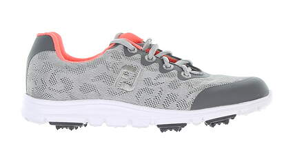 New Footjoy Golf Shoe Medium 4 Grey/Pink MSRP $80 48219