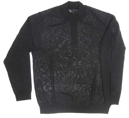 New W/ Logo Mens Greg Norman Sweater XX-Large XXL Black MSRP $140