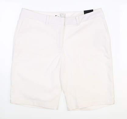 New Womens Nike Golf Shorts 6 White MSRP $65 884923