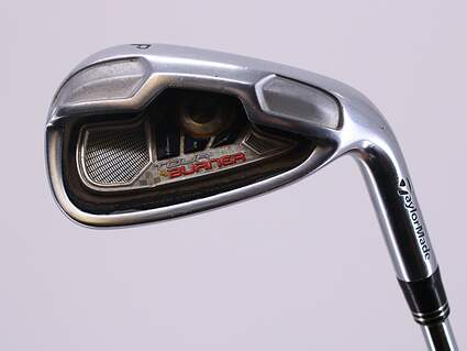 TaylorMade Tour Burner Single Iron Pitching Wedge PW Stock Steel Shaft Steel Wedge Flex Right Handed 35.75in