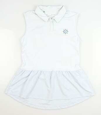 New W/ Logo Womens Under Armour Sleeveless Golf Polo X-Small XS Blue MSRP $75