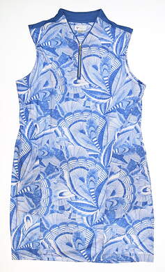 New Womens Greg Norman Golf Dress Large L Blue MSRP $120 G2S20K208