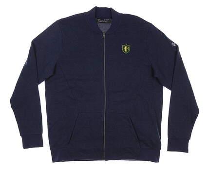New W/ Logo Mens Under Armour Jacket Golf X-Large XL Navy Blue MSRP $80