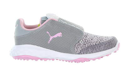 New Junior Golf Shoe Puma Grip Fusion Sport DISC Medium 4 Gray/ Pink MSRP $65 192246 02