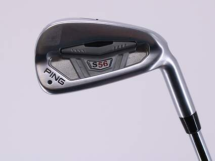 Ping S56 Single Iron 7 Iron True Temper Dynamic Gold S300 Steel Stiff Right Handed Black Dot 36.75in