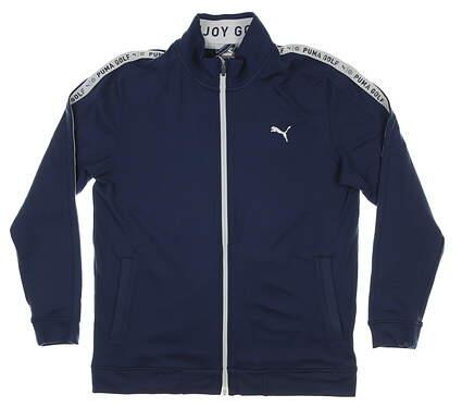 New Mens Puma Enjoy Golf Track Jacket Medium M Navy Blazer MSRP $85 599131 02