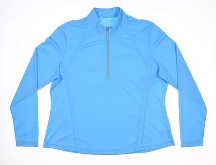 New Womens GG BLUE ELLEN 1/2 Zip Pullover X-Large XL Blue MSRP $75 BE5000-A080