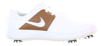 New Mens Golf Shoe Nike Air Zoom Victory Tour Medium 9.5 White/Brown MSRP $180 AQ1524 101