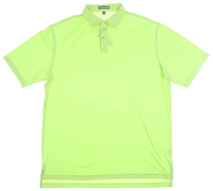New Mens Peter Millar Golf Polo Large L Green MSRP $95