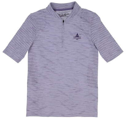 New W/ Logo Womens Under Armour Golf Polo X-Small XS Purple MSRP $72