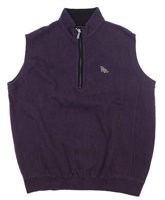 New W/ Logo Mens Straight Down Golf Vest XX-Large XXL Purple MSRP $125 60318