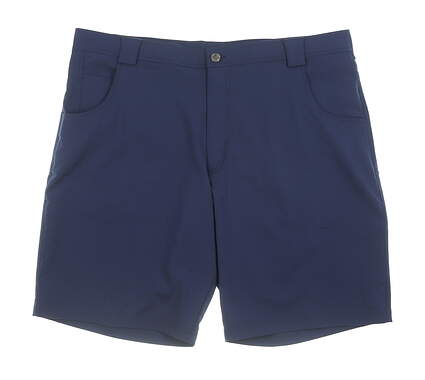 New Mens Straight Down Shorts 40 Navy Blue MSRP $89 40128